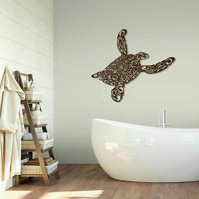 Bathroom - Sea Turtle Wall Detail