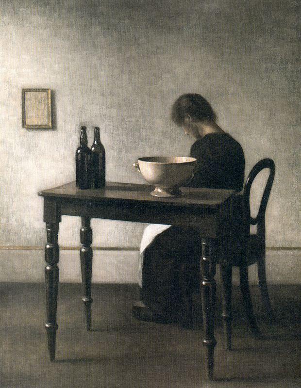 Vilhelm Hammershoi Echoes of Wyeth.  K.W.