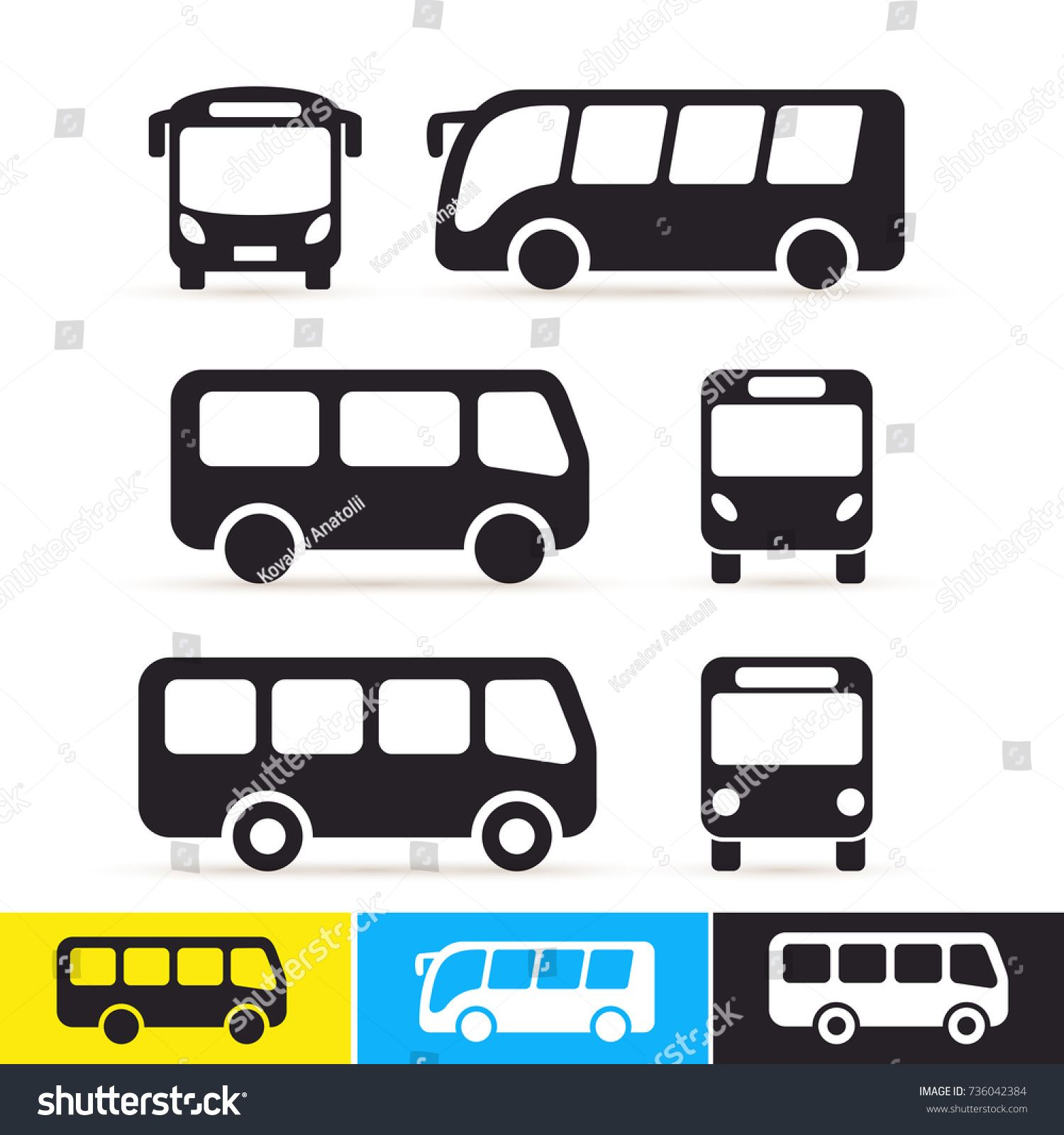 Set Of Bus Icon Vector Illustration Isolated On White Background Sponsored Ad Icon Vector Set Vector Illustration Illustration Brochure Design Template