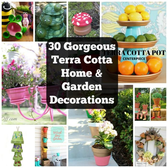 30 Gorgeous Ways To Decorate Your Terracotta Pots u2022 Cool Crafts  sc 1 st  Pinterest & 30 Gorgeous Ways To Decorate Your Terracotta Pots | Terracotta 30th ...