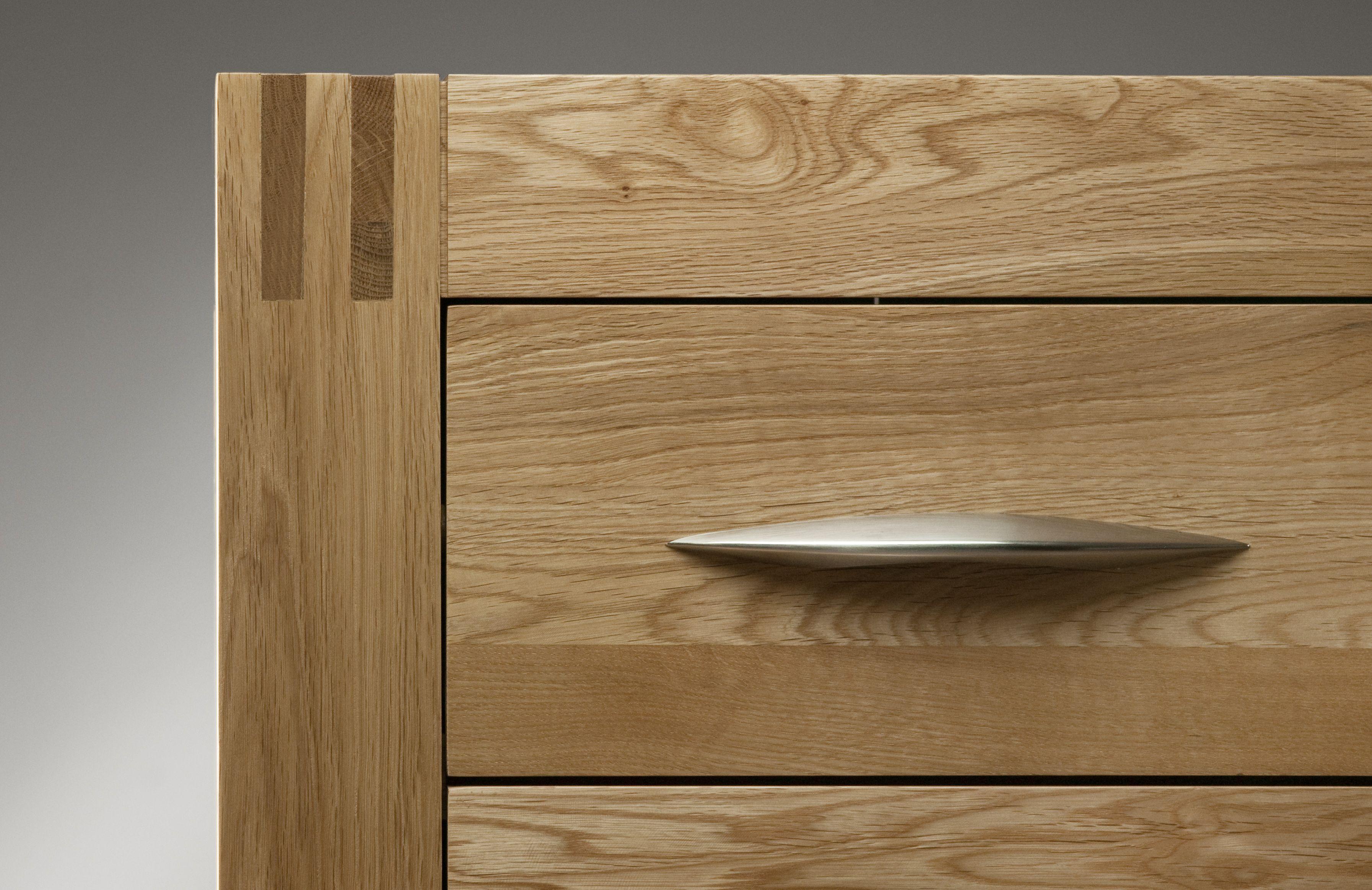 Alto Solid Oak Chrome Handles Oak Furniture Land
