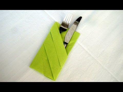 eine einfache anleitung wie man eine bestecktasche falten kann ... - Serviette Falten Weihnachten