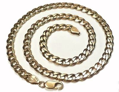Gold Chains For Sale >> 22 Inch Solid 9ct Gold Curb Chain 44 Grams Newburys Solid Gold