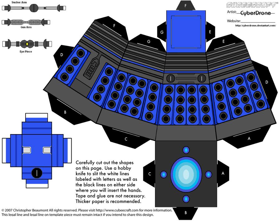 Cubee - Dalek 2010 'Ver2' by CyberDrone on deviantART