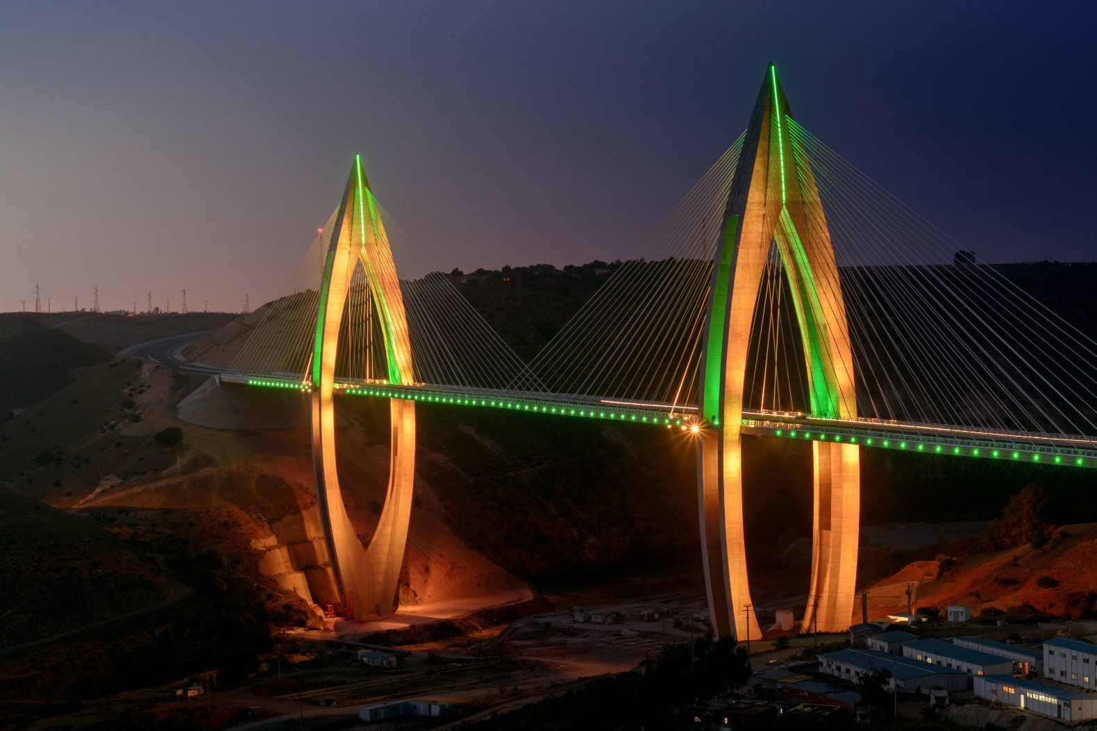 Longest cable stayed bridge in africa lit up with philips leds longest cable stayed bridge in africa lit up with philips leds buycottarizona