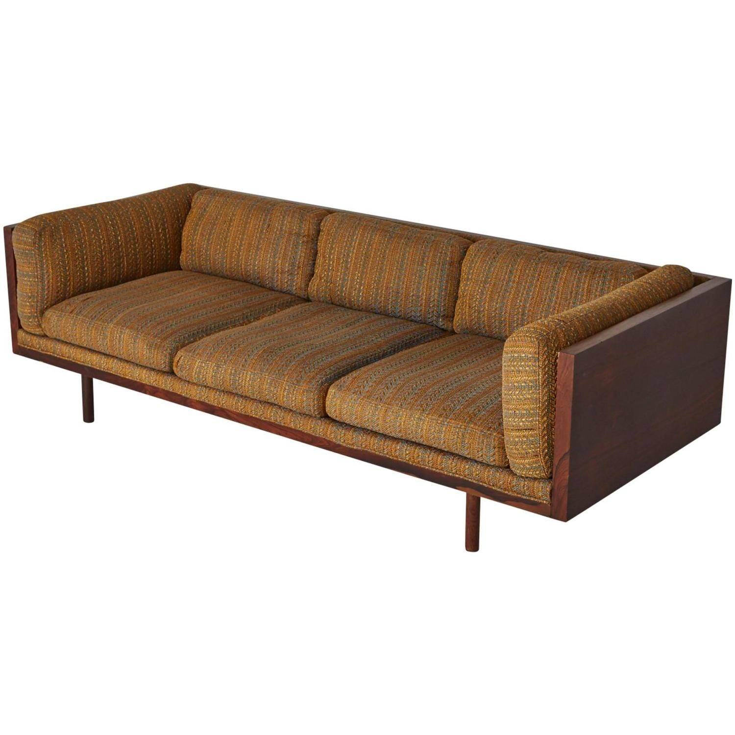 Rosewood Case Sofa By Milo Baughman For Thayer Coggin On 1