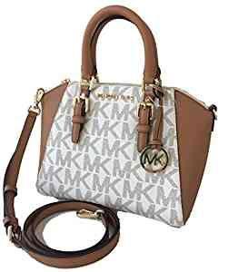 4d04ee1f23378e Michael Kors Ciara Medium Messanger Crossbody Bag Logo Vanilla Acorn:  Handbags: Amazon.com
