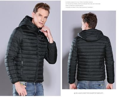 ebb35c7e0511 2019 New COUTUDI Winter Jacket Men Casual Puffer Jacket Slim Thick Warm  Men's Hooded Outwear Coats Jackets Cotton Padded Parkas