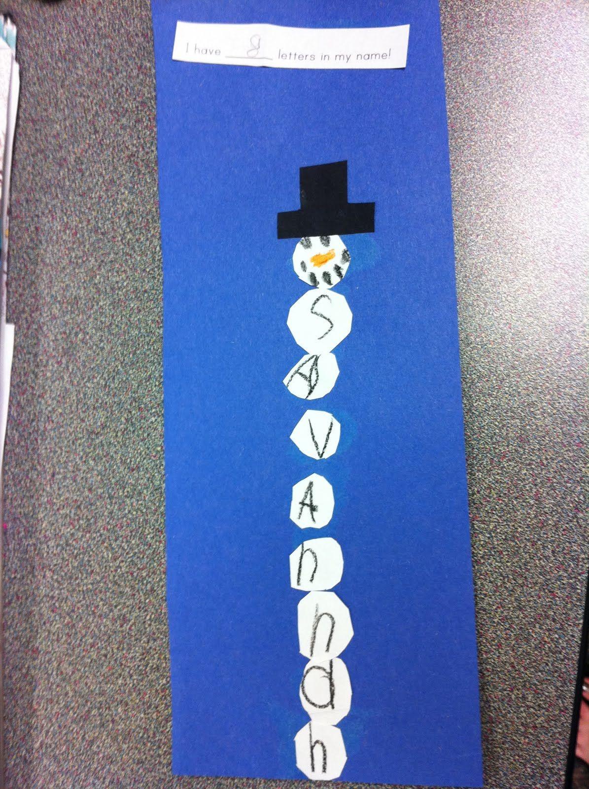 Snowman Names Kindergarten Cupcake Crumbs Cute Can Add
