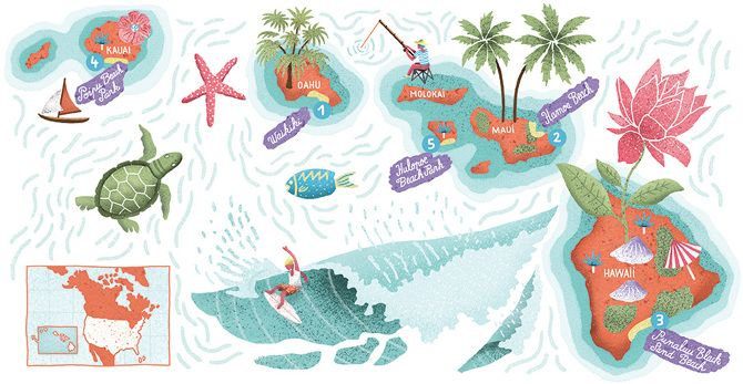 Map of Hawaii - Antoine Corbineau • Illustration & Design
