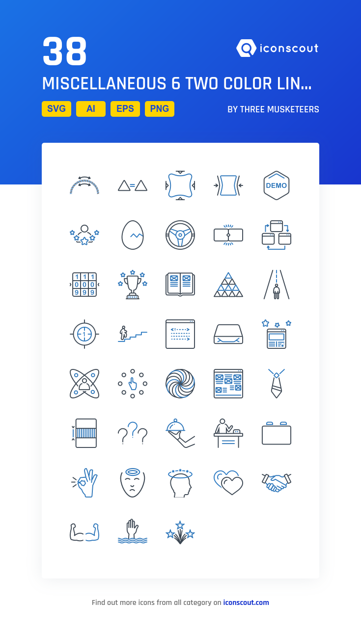 Download Miscellaneous 6 Two Color Line Icon Pack Available In Svg Png Eps Ai Icon Fonts Color Lines Icon Pack Icon