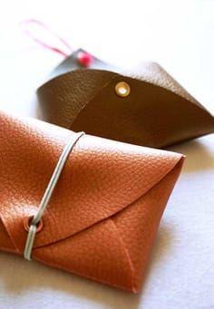 Bricolaje de 5 minutos: haga su propia billetera sin coser