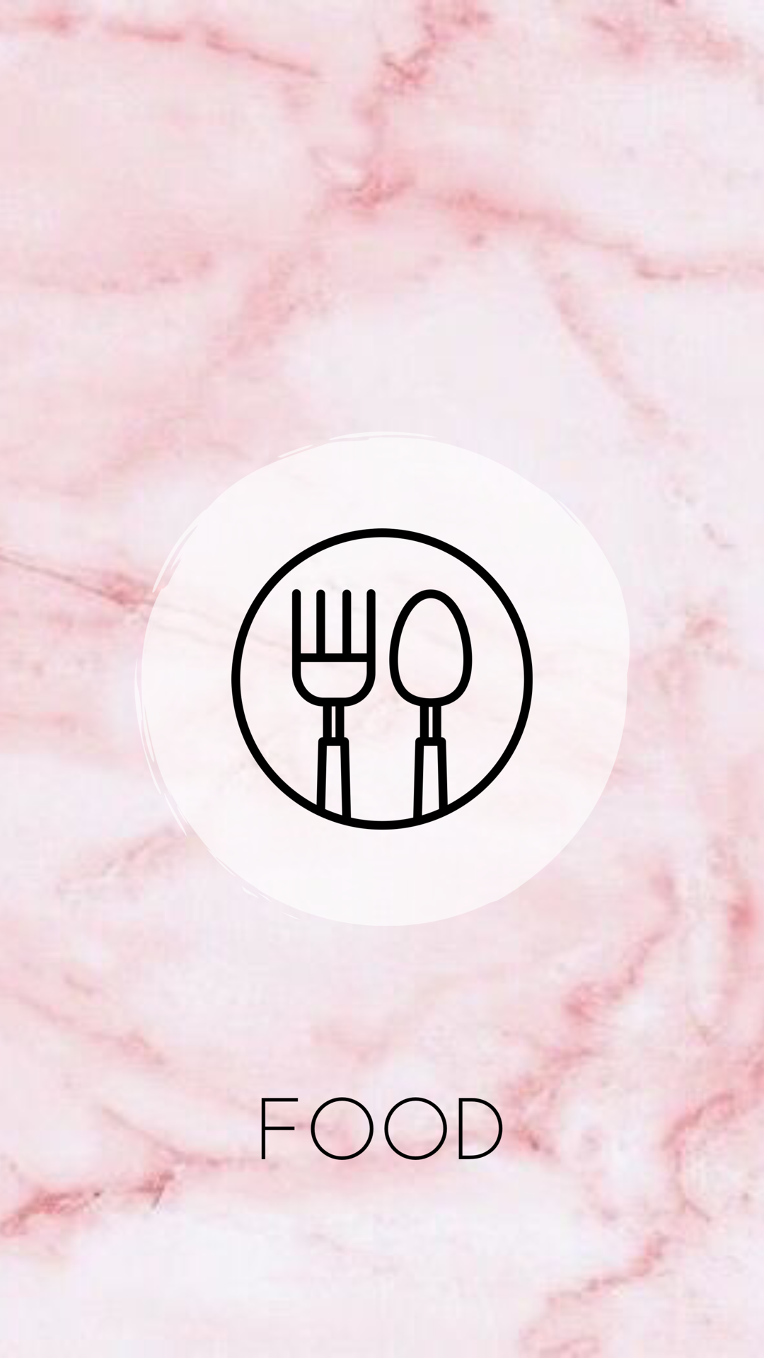 Highlight cover Food Pink and Floral Theme. Instagram