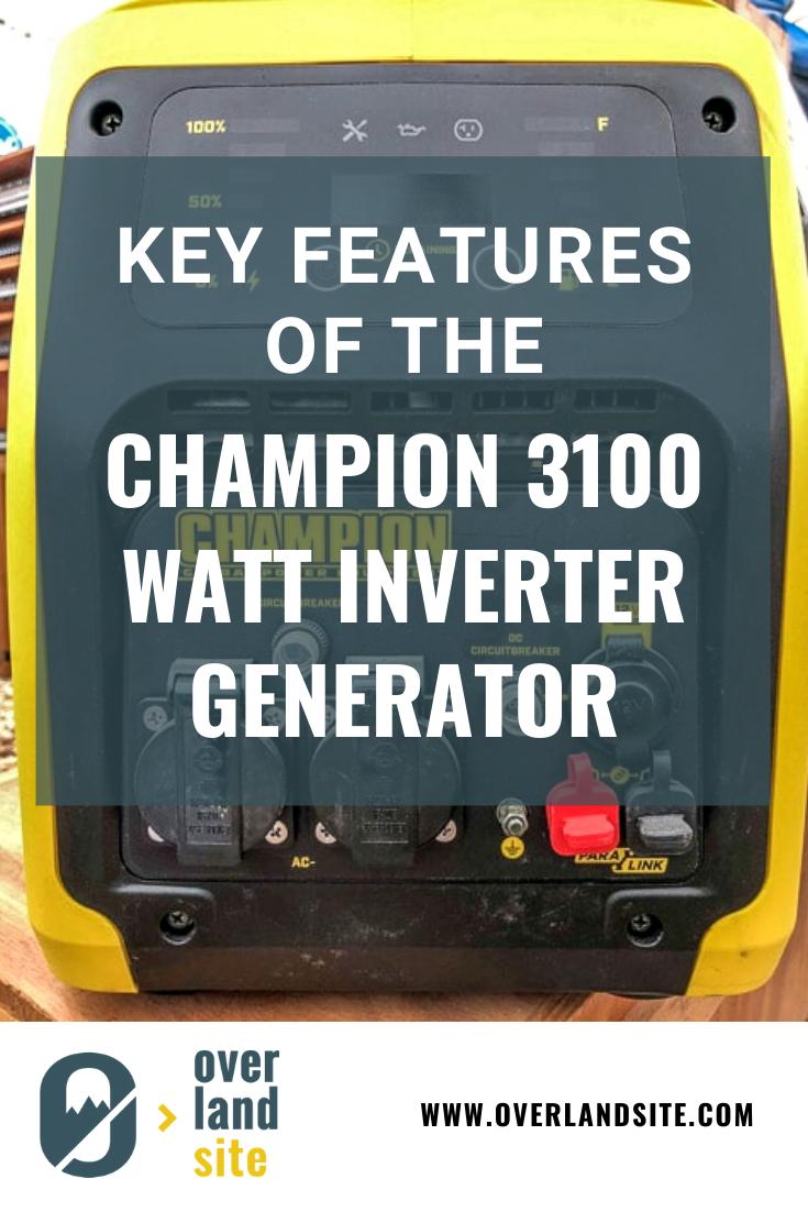 Champion 3100 Watt Inverter Generator Review Inverter