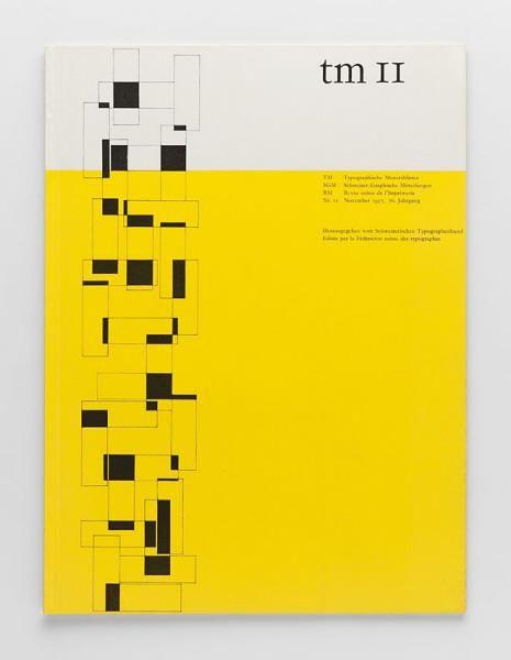 TM Typographische Monatsblätter, issue 11, 1957. Cover designer: Albert Gomm