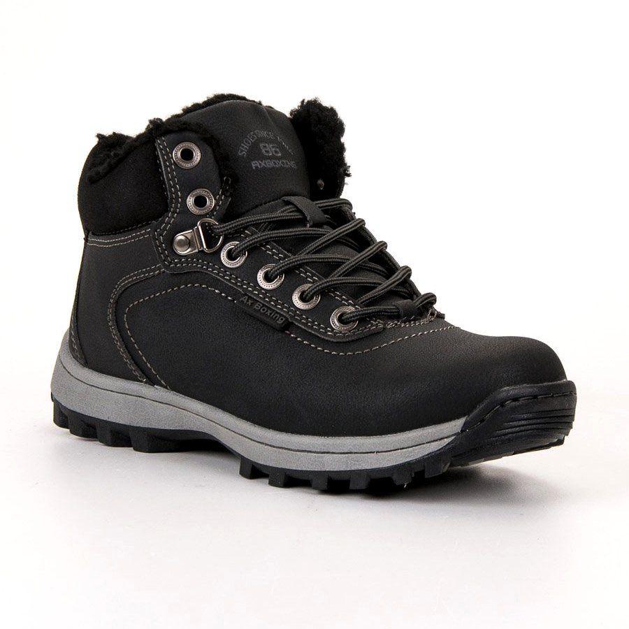 Ax Boxing Ocieplane Buty Trekkingowe Czarne Trekking Shoes Hiking Boots Women Shoes