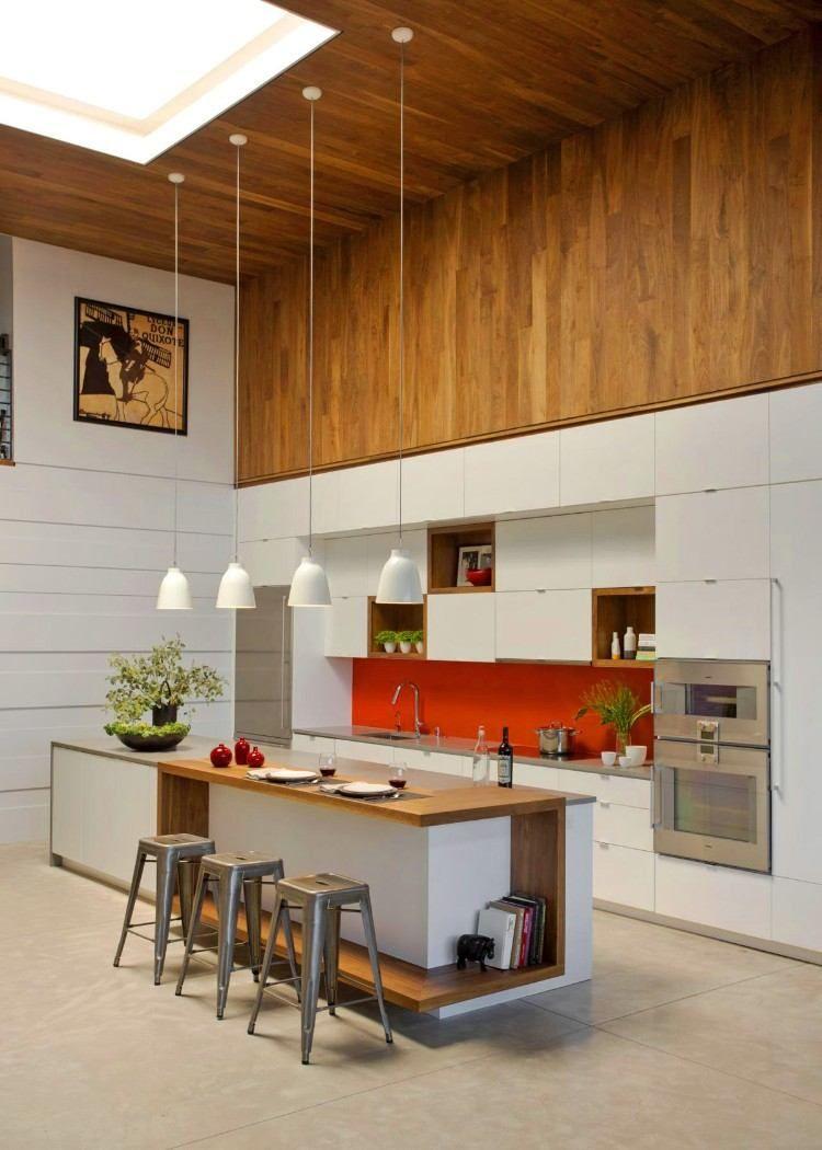 Ilot Central Design En 50 Inspirations Splendides Pour Relooker La Cuisine Cuisine Moderne Idees De Cuisine Moderne Cuisine Moderne Design