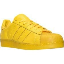 dc76b7fed790 Bright yellow shell toes