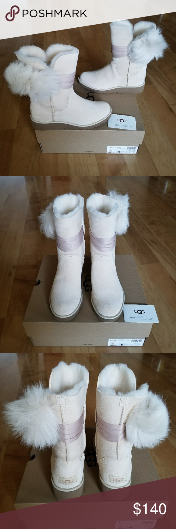 1330bffd8e0 UGG Boots NEW UGG Brita Boot. Size 6 in women. Cream color. Suede ...