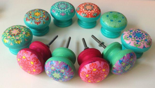 Tiradores de madera love decoupage pinterest - Tiradores de porcelana ...