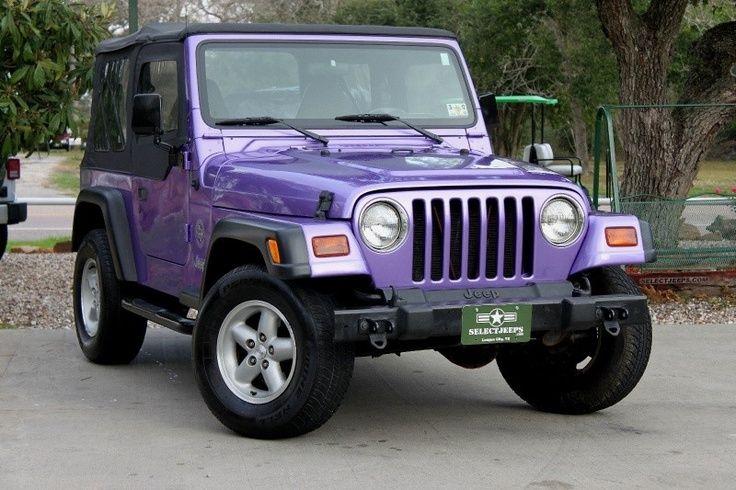 Purple Jeep Wrangler Purple Jeep 1999 Jeep Wrangler Jeep