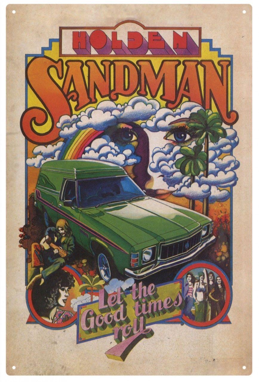 Holden Sandman 'Let the Good Times Roll' Tin Sign Holden