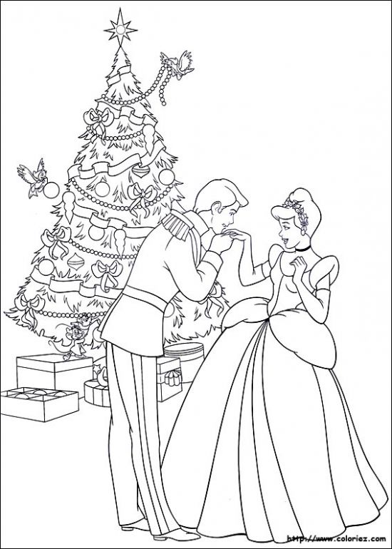 Coloriage Noel Disney Princesse Coloring Pages Pinterest