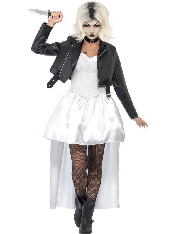 Bride of Chucky Costume - UK Dress 12-14 Fancy dress  make up
