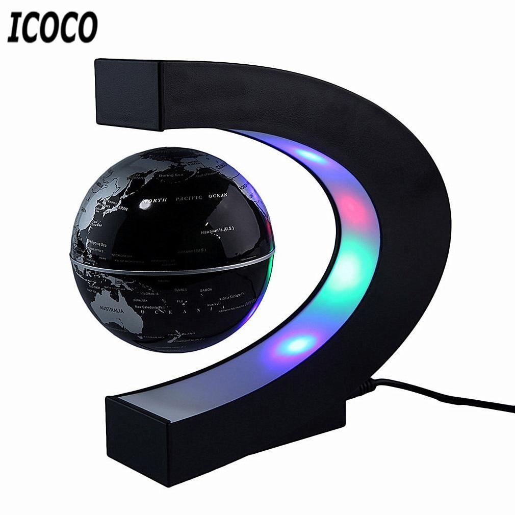 Magnetic Levitation Globe - Black / China / US Plug
