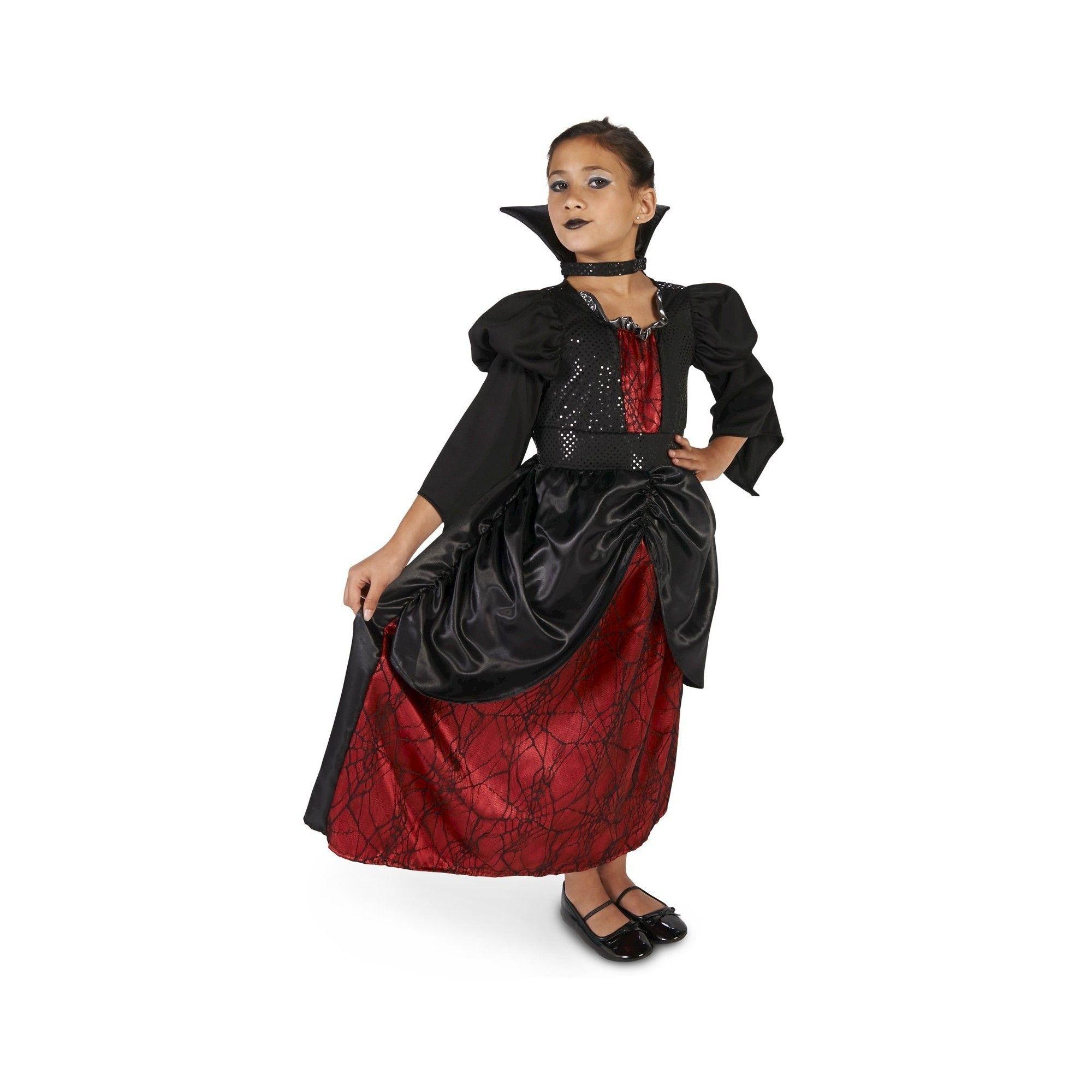 Young vampire queen childus costume large girlus black vampire