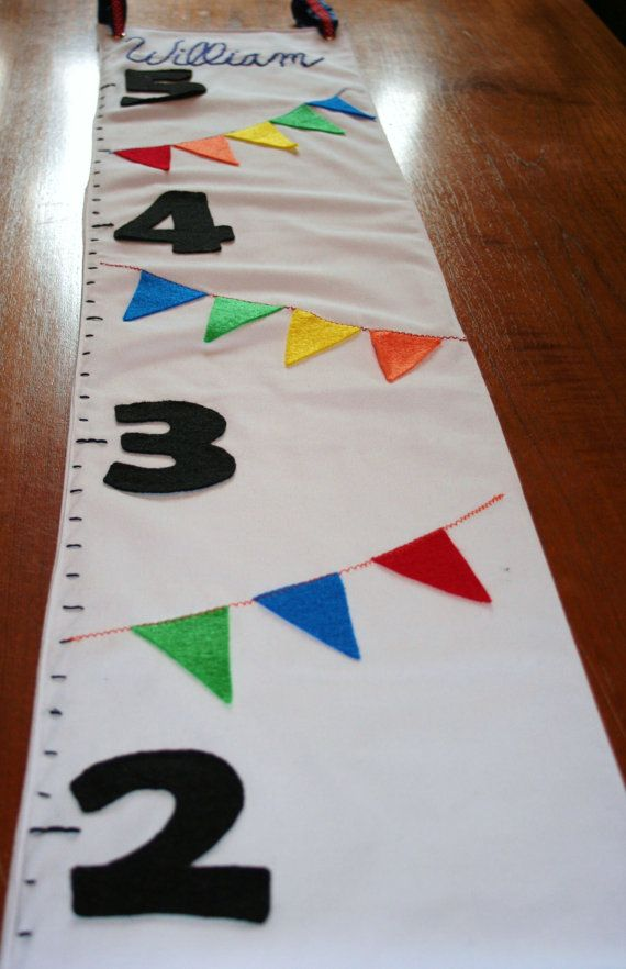 A Customizable And Personalized Fabric Growth Chart Is Perfect For