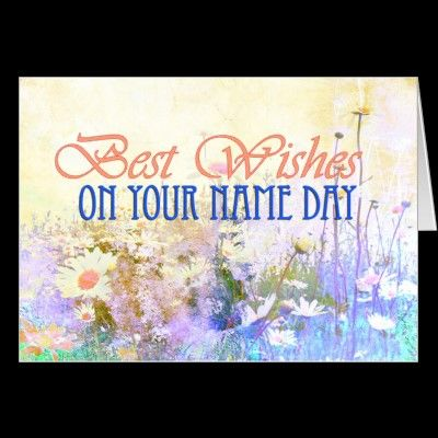Best Wishes On Your Name Day Meadow Of Daisies Card Zazzle Com