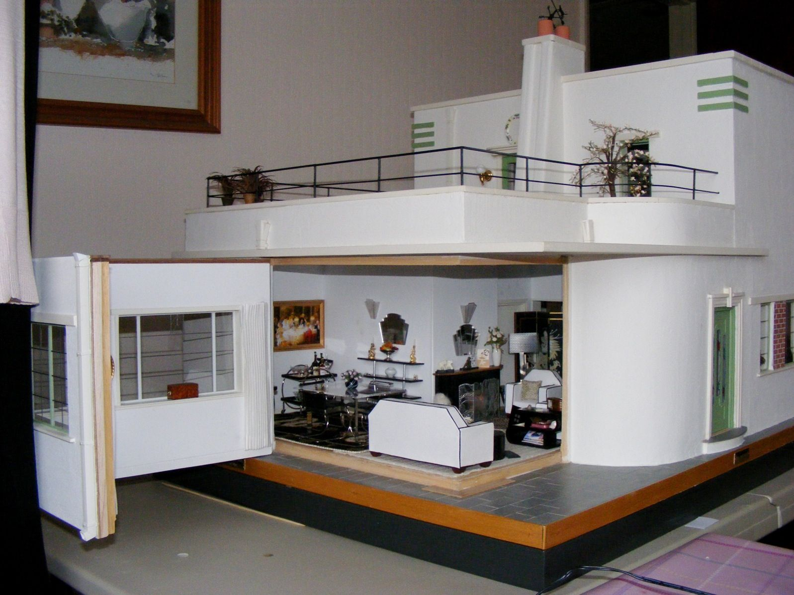 Charming An Art Deco Dolls House Made And Furnished By Artisans By Jazz   Dolls  Houses Past U0026 Present