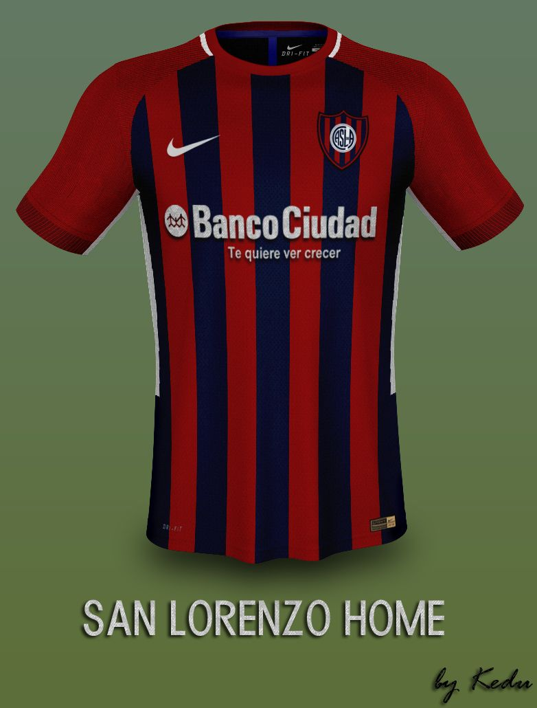 Diseño de Kit Nike San Lorenzo Home Fantasay Playeras De Futbol fa3b71798dc18