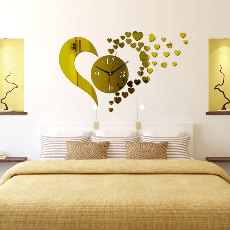 2016 new hot sale 3d wall clock home decoration Quartz Geometric diy ...
