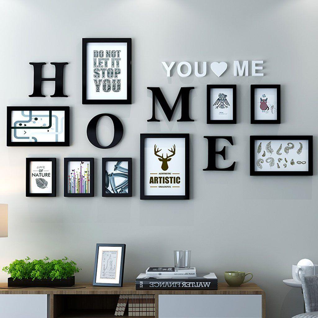 Dekorrahmen Fotorahmen Sets Wohnzimmer Fotowand Mit Einer Uhr