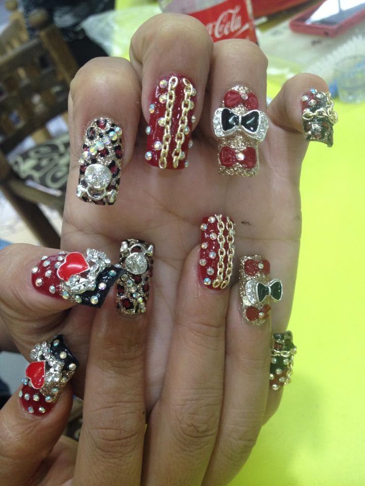 acrilic nails design _$250.00 | MBNAILS | Pinterest | Uñas estilo ...