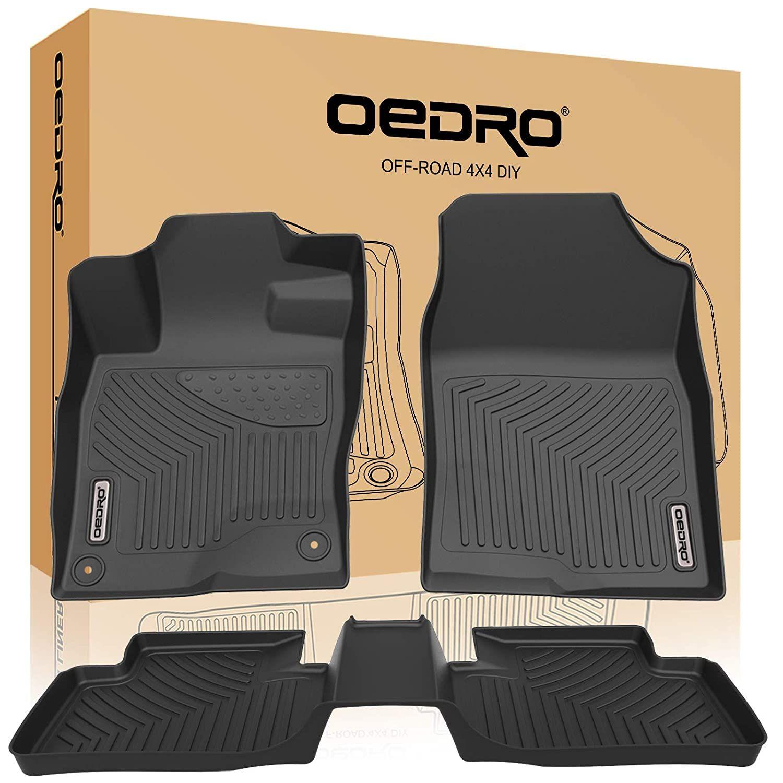 Oedro Floor Mats Compatible For 2016 2019 Honda Civic Sedan Civic Hatchback Civic Type R Unique Black Tpe All We In 2020 Honda Civic Sedan Civic Sedan Civic Hatchback