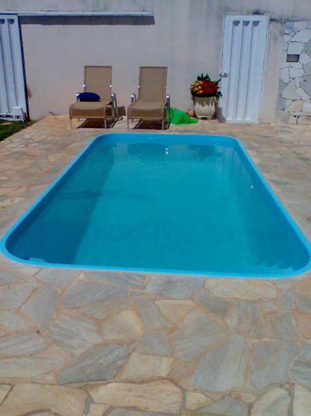 Quintal com piscina de fibra pesquisa google inspira o em rea de lazer com piscinas e - Piscinas altas ...