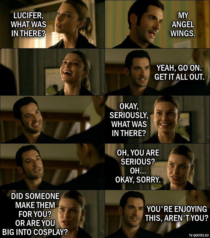 16 Best Lucifer Quotes From Wingman 1x07 Lucifer Wings Tom