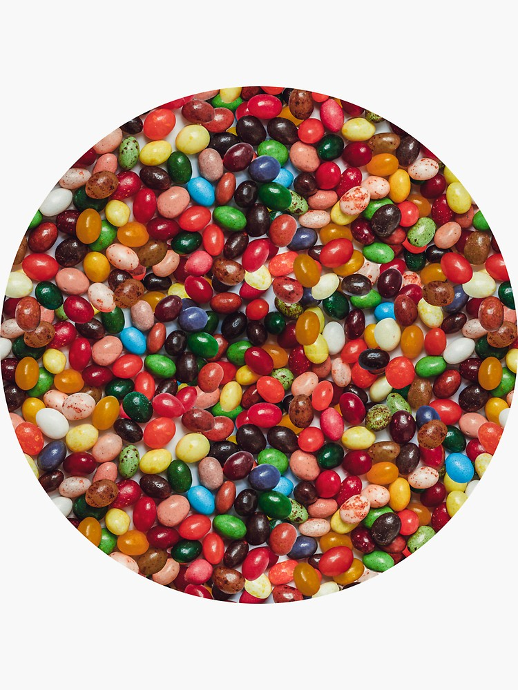 Gourmet Jelly Bean Candy Photo Pattern Sticker By Patternsoup Gourmet Jelly Beans Jelly Bean Candy Jelly Beans