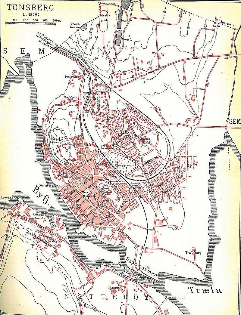 Tonsberg 1926 Refsdal Historiske Kart Over Norge Wikipedia