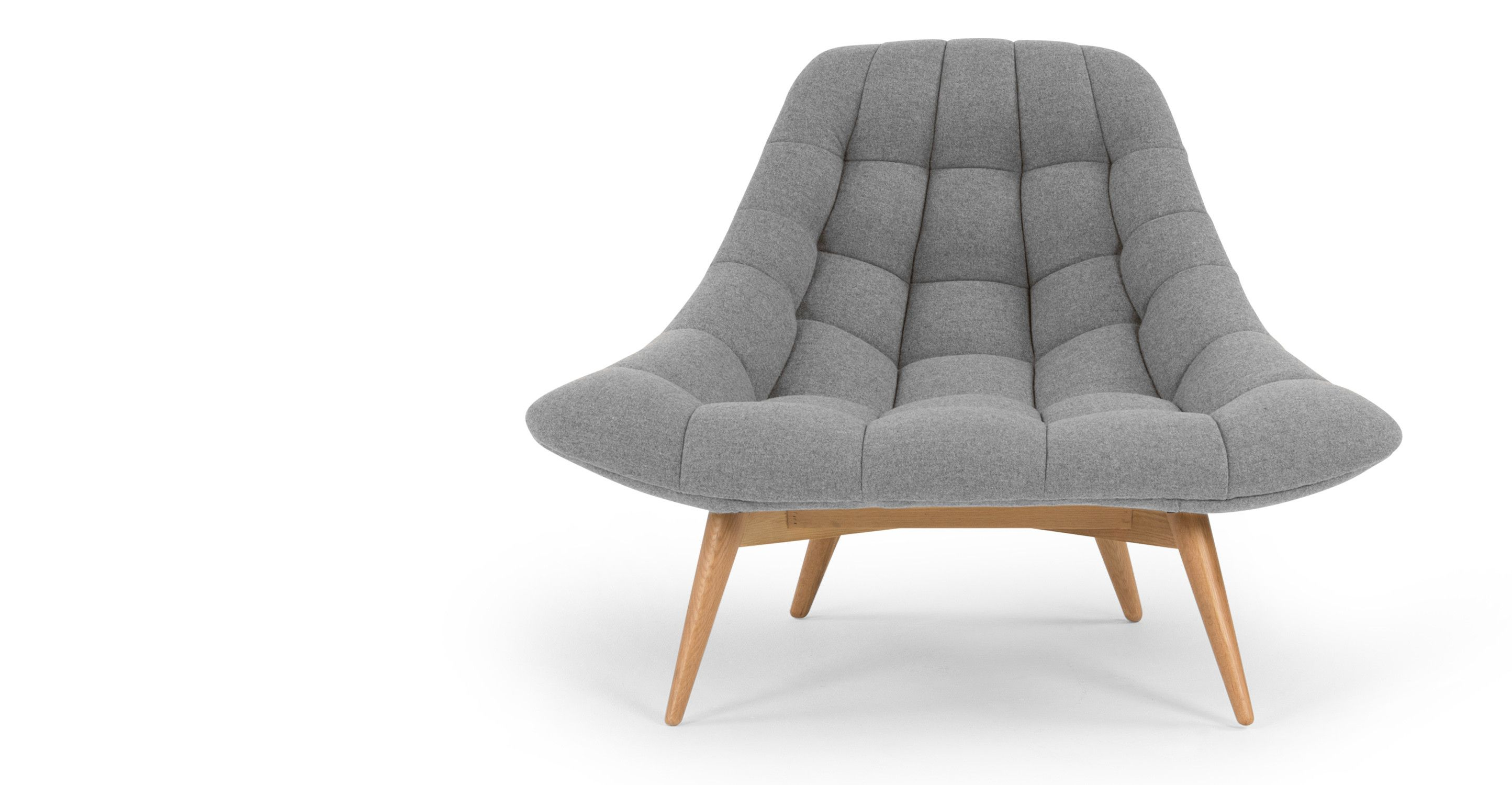 Ohrensessel modern grau  Kolton fauteuil, opaalgrijs | made.com | Home is where the heart ...