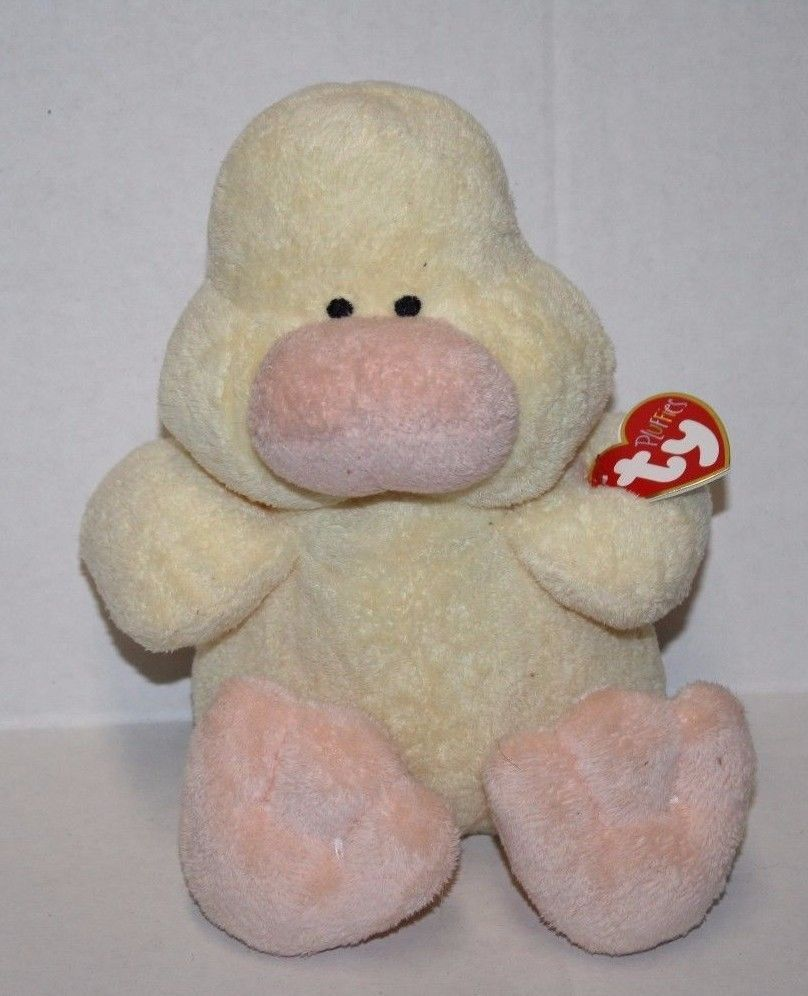 Ty Pluffies EASTER DUCK PUDDLES Yellow Stuffed Plush Baby Soft Toy 2002  Sewn Eye  Ty  Easter 91fe4ecf2014