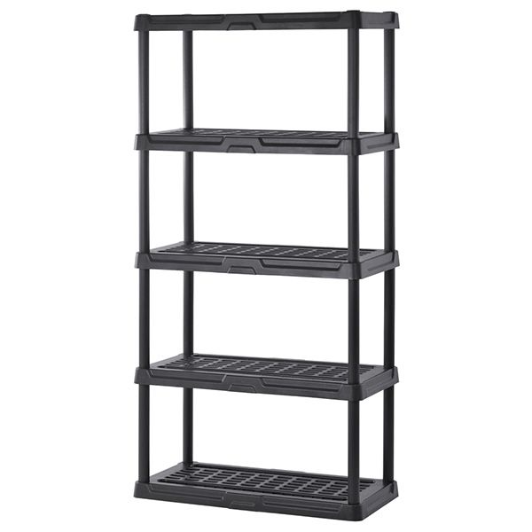 Plastic Shelving Five Shelves 36 W X 24 D X 72 H At Schoolsin Plastic Shelves Plastic Shelving Units Plastic Garage Shelving