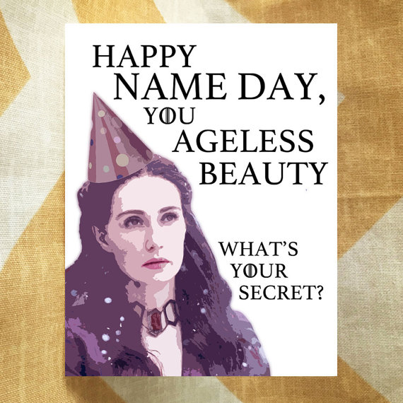Game of Thrones Birthday Card Melisandre Happy Name Day You