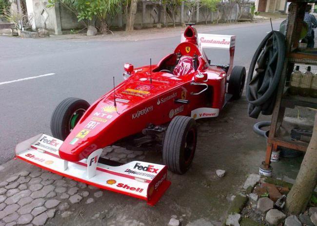 Wow Mobil Balap F1 Ferrari Asal Lombok Balap F1 Mobil Balap Modifikasi Mobil