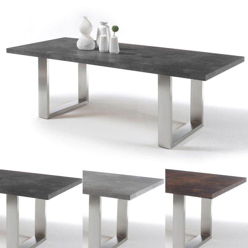 488 95 49 95 Esstisch Stone Tisch Esstisch Esszimmertisch Anthrazit Grau Rost Mit Auswahl Esszimmertisch Graue Esstische Esstisch Modern