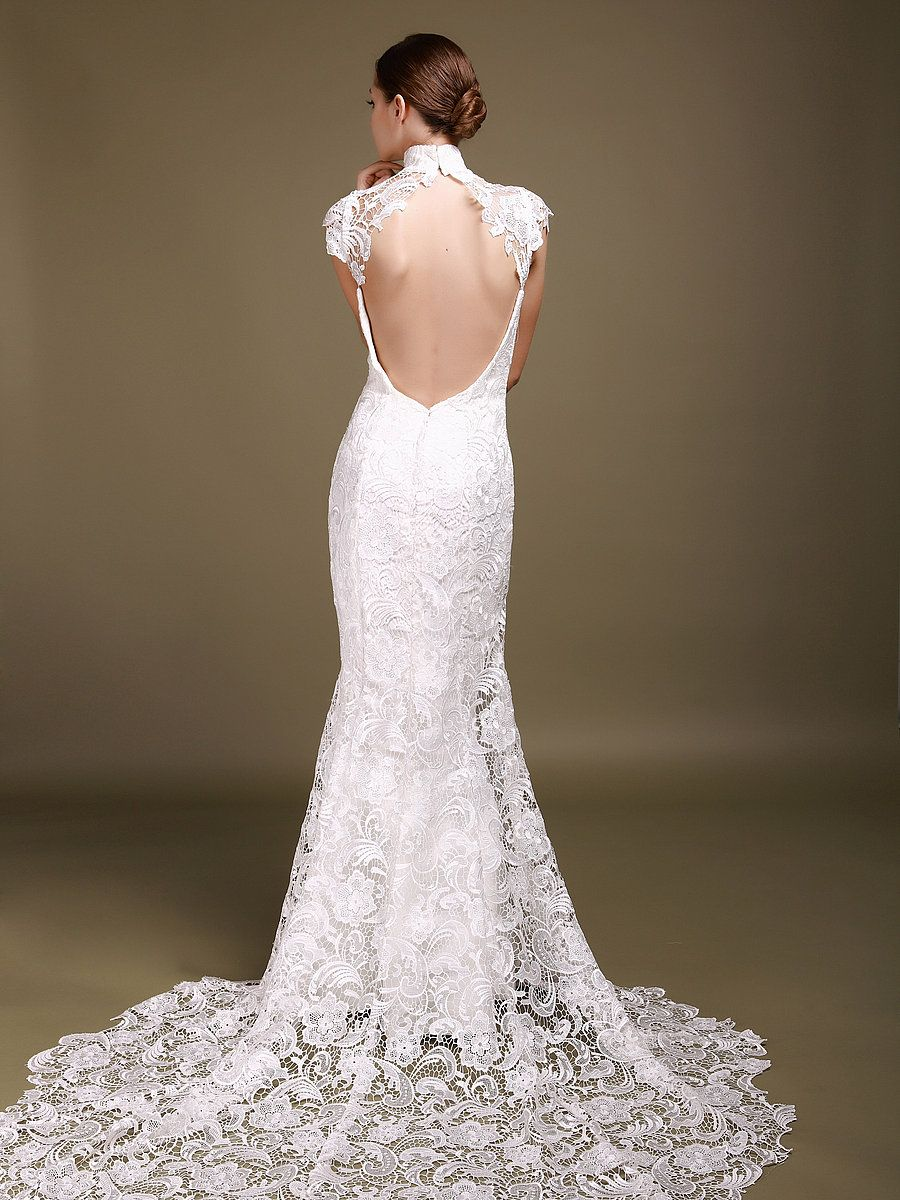 Backless mermaid wedding dress things i love pinterest