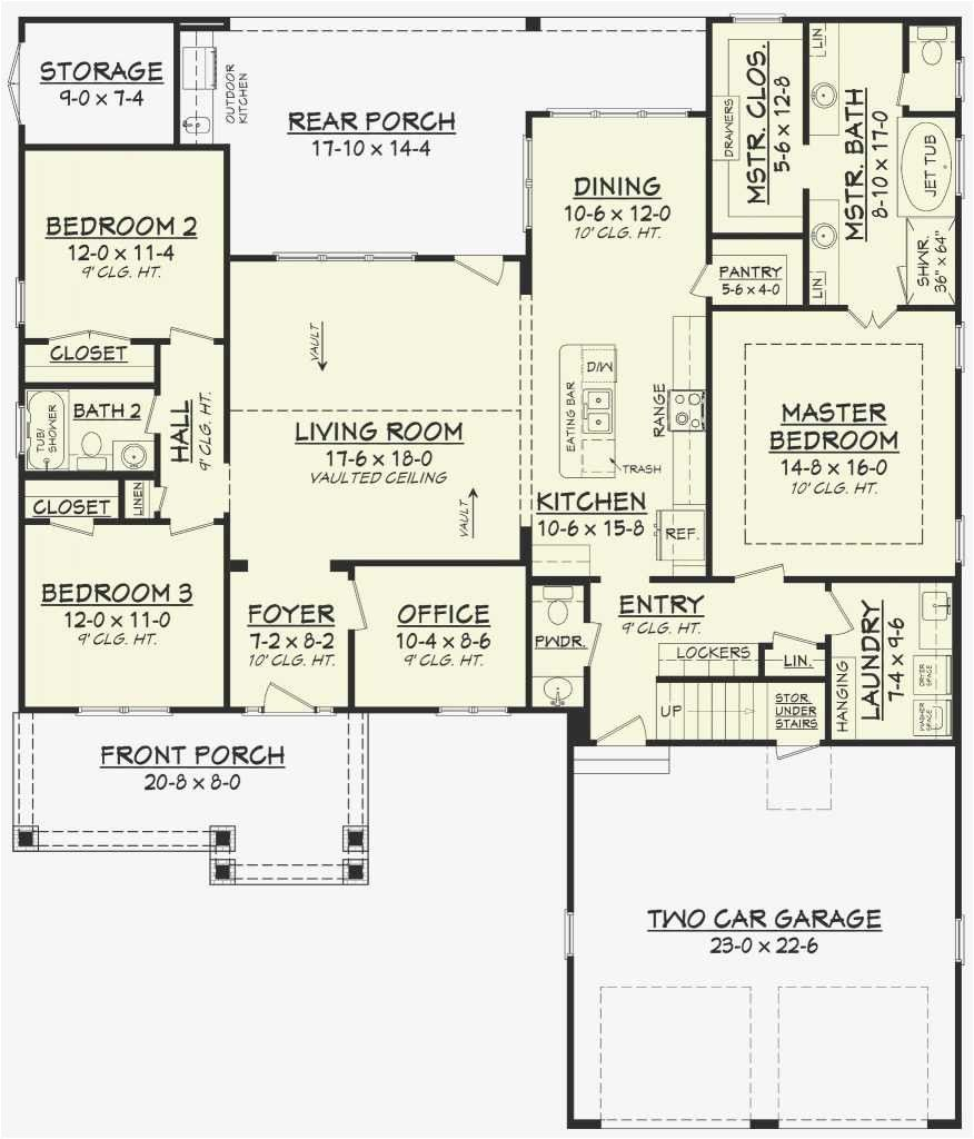 House Plans Without A Trends With Attractive Formal Dining Ranch House Floor Plans Home Design Floor Plans Floor Plan Design